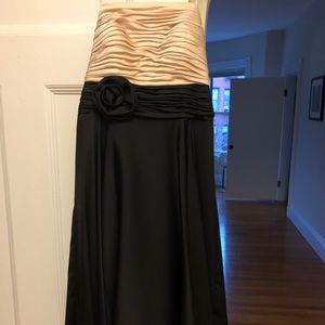 Strapless color block dress for special occasion